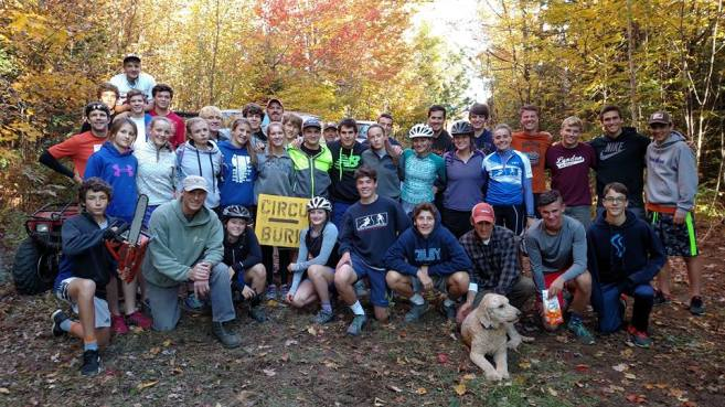 Burke Mountain Academy worked on Victory Hill trails in October 2015